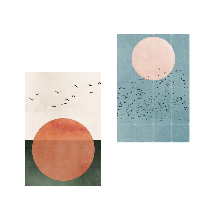 Affiche 2 en 1 Free Souls Fly Away de IXXI en 80 x 120 cm