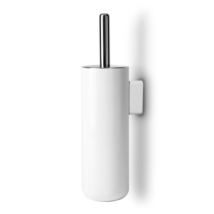 Mur de brosse pour toilettes de bain monté de Menu en blanc