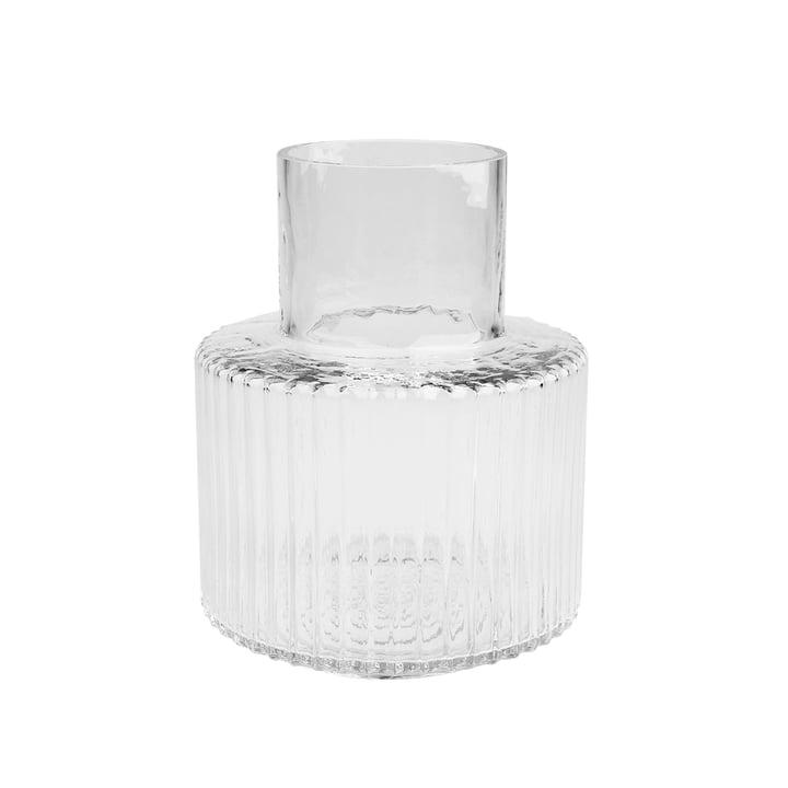 Ripple Vase Ø 17 x H 21 cm, transparent de Connox Collection