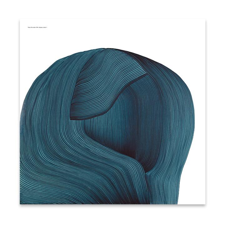 Drawing 4 posters 69 x 69 cm de The Wrong Shop en bleu