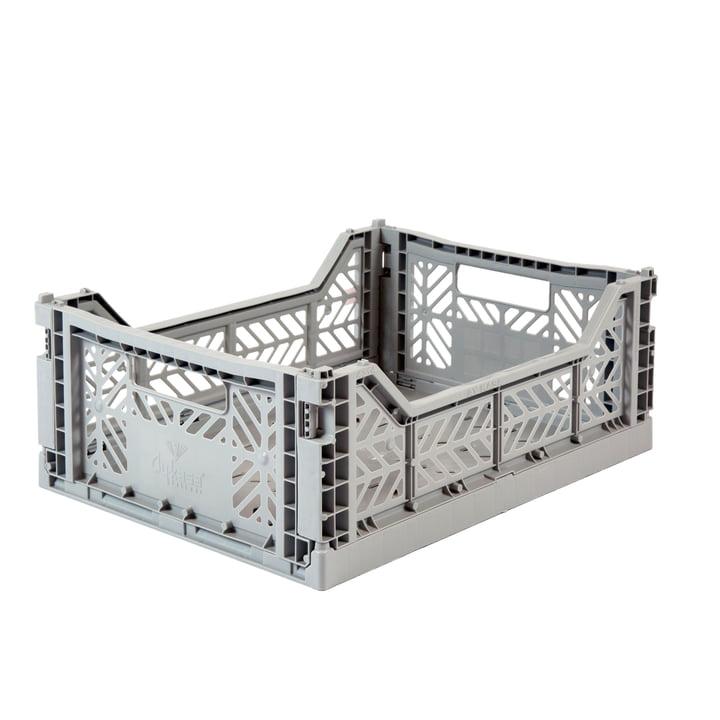 Boîte pliante Midi 40 x 30 cm de Aykasa en gris