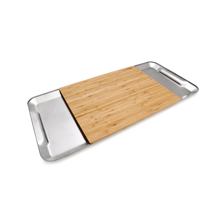 Planche Collect Magisso à découper en bambou et en acier inoxydable
