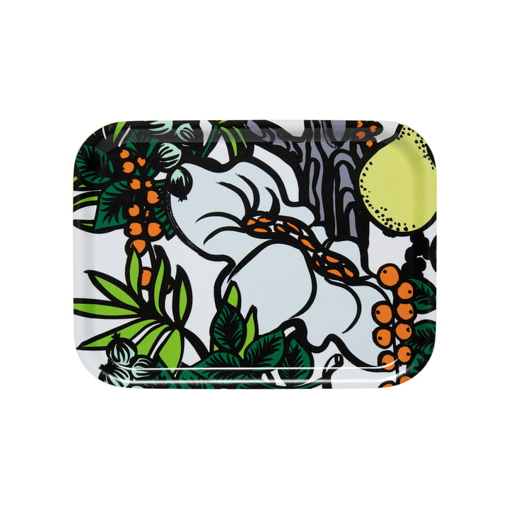 Pala Taivasta Plateau 27 x 20 cm de Marimekko en blanc / vert / orange / jaune