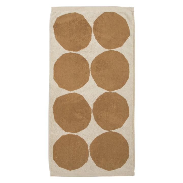Kivet Serviette 50 x 70 cm de Marimekko en coton blanc / beige