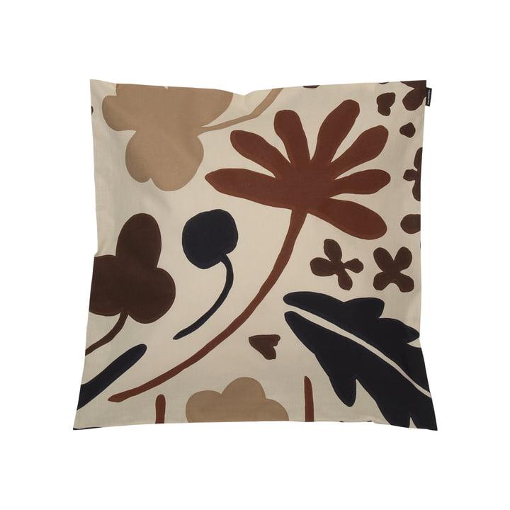 Housse de coussin Suvi 45 x 45 cm, beige / marron (automne / hiver 2020) par Marimekko