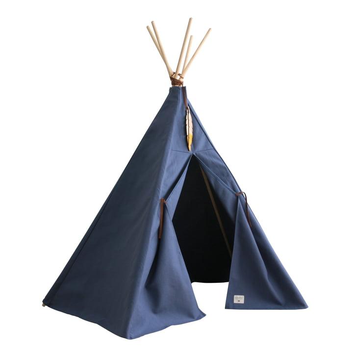 Nevada Tipi -tent, aegean blue par Nobodinoz