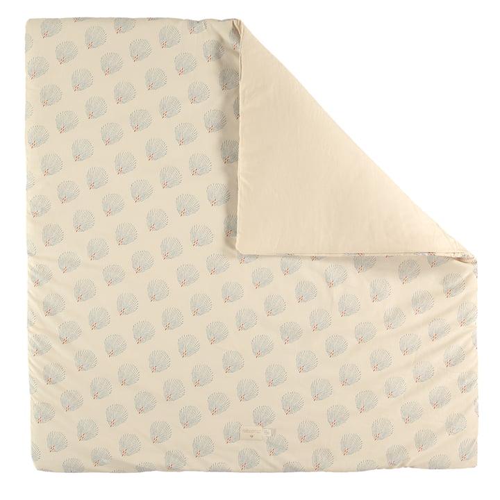 Tapis de Colorado, 100 x 100 cm, bleu gatsby / crème par Nobodinoz