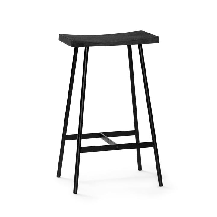 Tabouret de bar HC2 H 65 cm par Andersen Furniture en chêne noir / acier noir