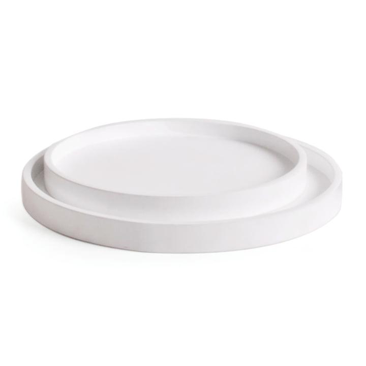 Low Jeu de plateaux (ensemble de 2), blanc de XLBoom