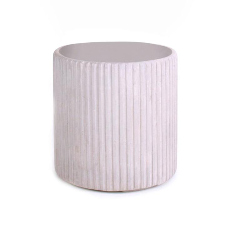 Mon Round Pot de fleur S, gris de XLBoom