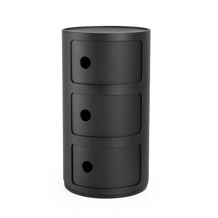 Componibili 4988, noir mat par Kartell