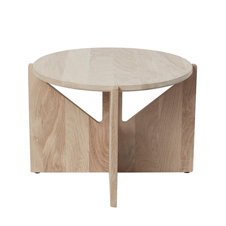 Table basse XL Ø 52 H 36 cm par Kristina Dam Studio en chêne