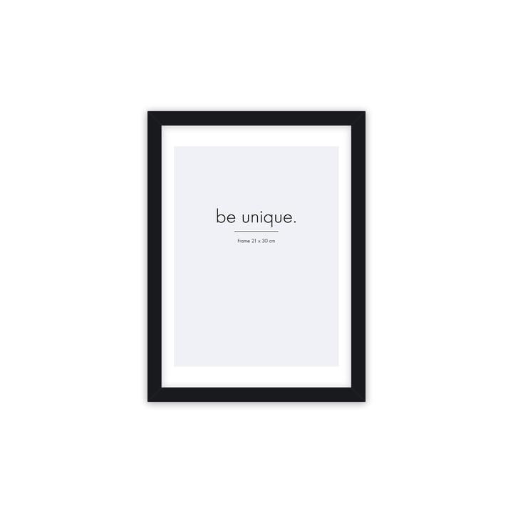 Cadre photo Floating 21 x 30 cm, noir de Connox Collection