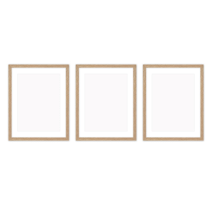 Frame it cadre photo 30 x 40 cm set (3 Connox Collection ), chêne de Connox Collection