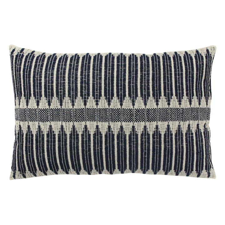 Coussin Aztec Weave 40 x 60 cm par HKliving en bleu / blanc