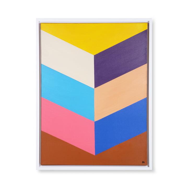 Image de Colourful Strokes (encadrée), 80 x 60 cm, multicolore par HKliving