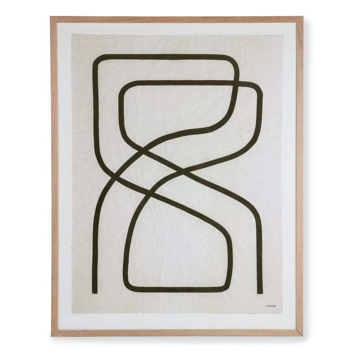 HKliving - Art Frame par Benjamin Ewing Picture (encadré), 75 x 95 cm, noir et blanc