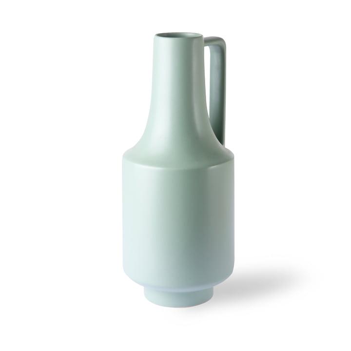 Vase avec anse, Ø 19 x H 41 cm, vert menthe par HKliving