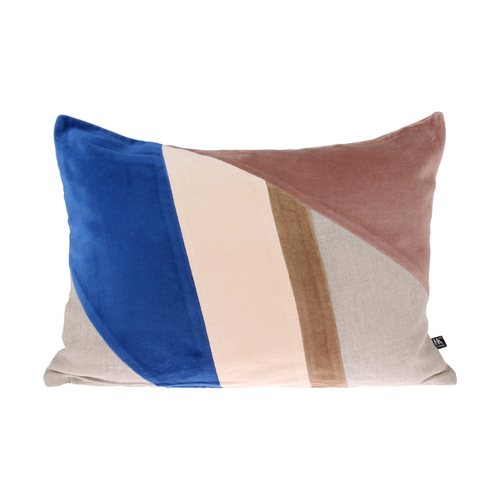 Coussin Velvet Patch A 35 x 50 cm par HKliving en multicolore