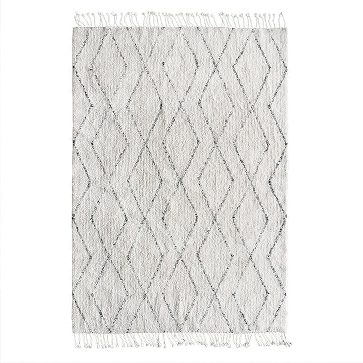 Tapis Berber 140 x 200 cm par HKliving en blanc / noir