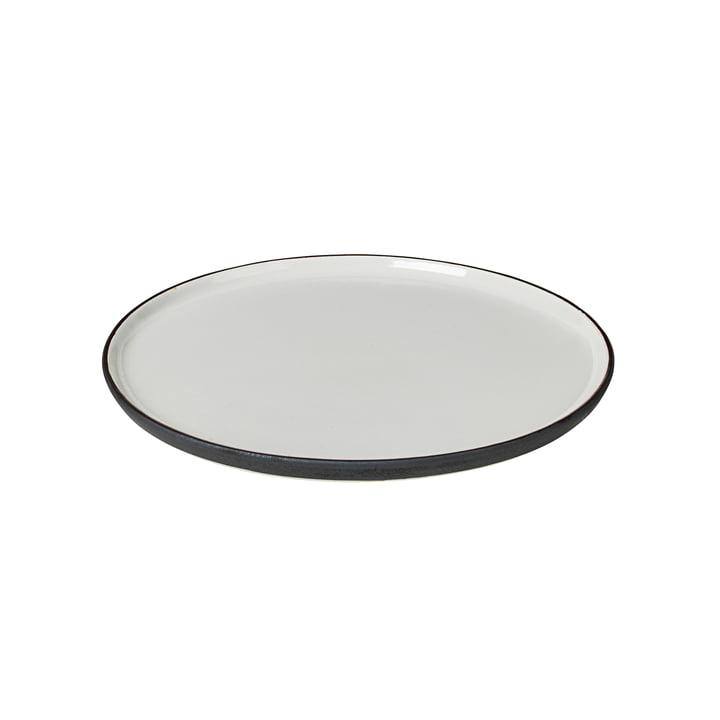 Assiette petit-déjeuner Esrum Ø 21 cm, ivoire brillant / gris mat de Broste Copenhagen
