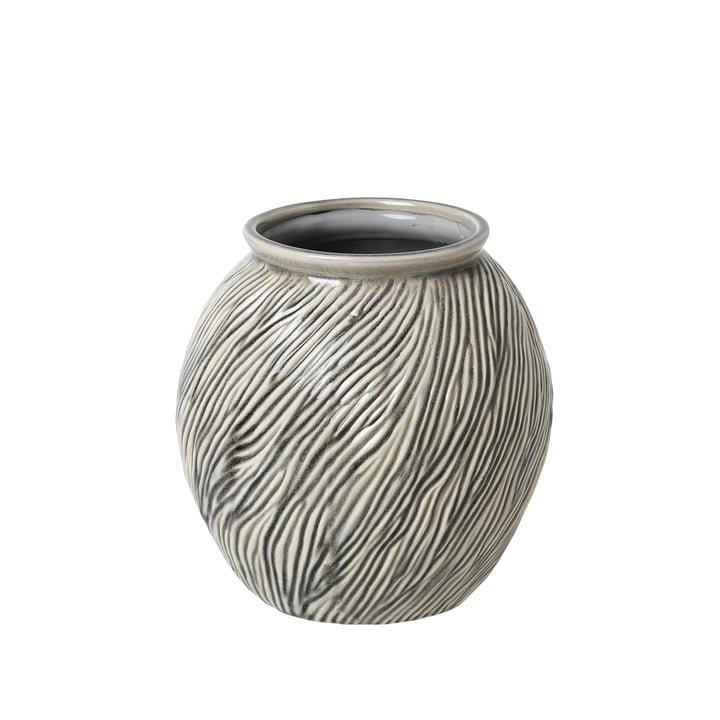 Vase Sandy S, Ø 20,5 x H 21 cm, perle fumée par Broste Copenhagen