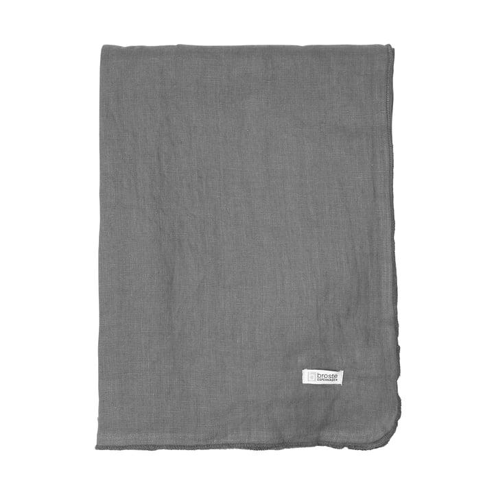Nappe Gracie, 160 x 200 cm, ombre sombre par Broste Copenhagen