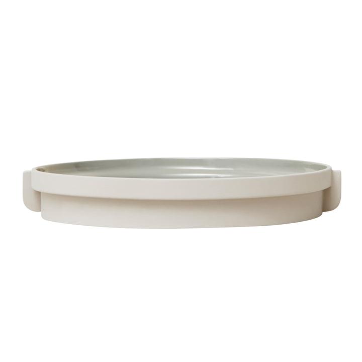 Plateau Alcoa, Ø 30 cm, gris clair par Form & Refine