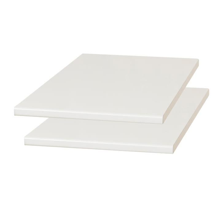 Plaques d'extension Damsbo, lot de 2, 45 x 90 cm, gris clair de Form & Refine