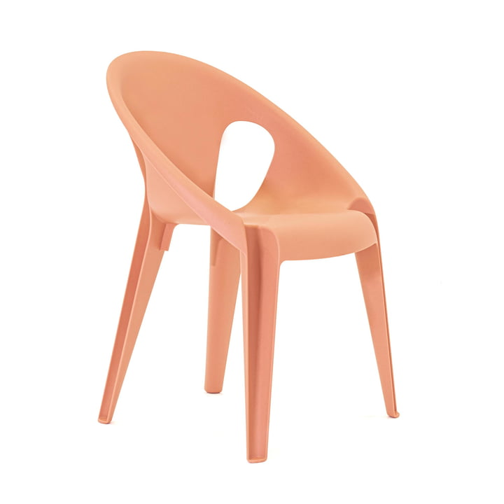 Chaise cloche dans la couleur orange sunrose
