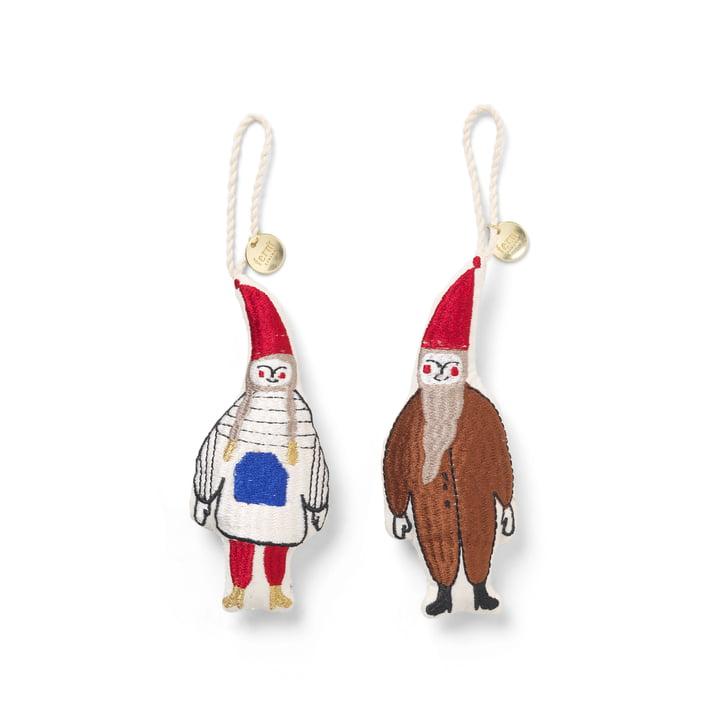 Paire de pendentifs décoratifs Elf de ferm Living en multicolore (lot de 2)