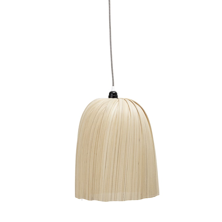 Lampe à suspension en bambou, Ø 32 x H 40 cm, nature by Bloomingville