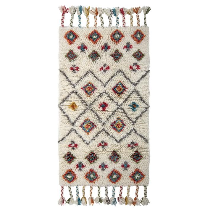 Tapis Ibne, 90 x 150 cm, laine / naturel de Bloomingville