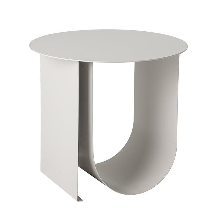 Table d'appoint Cher, Ø 43 x H 38 cm, gris clair par Bloomingville .
