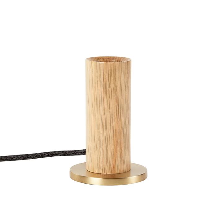 Lampe de table Oak Knuckle, chêne / laiton (EU) de Tala .
