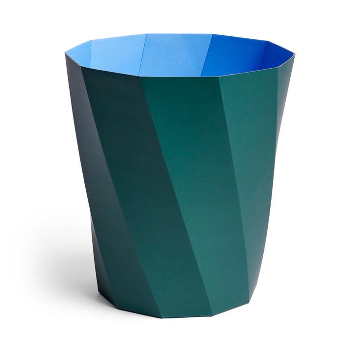 Corbeille à Paper Paper papier, Ø 28 x H 30,5 cm, vert foncé par Hay .