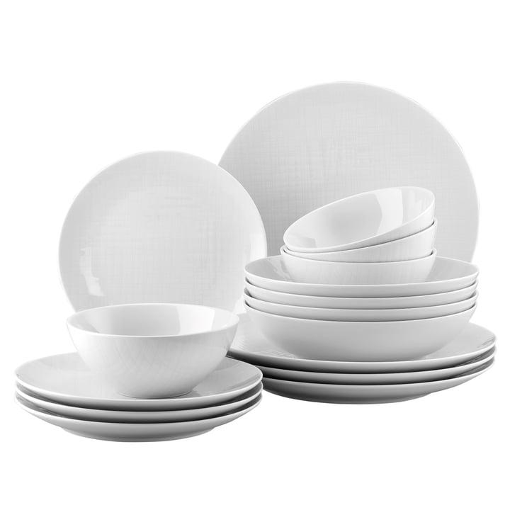 Mesh de table en Mesh blanc, bol de céréales (lot de 16) par Rosenthal