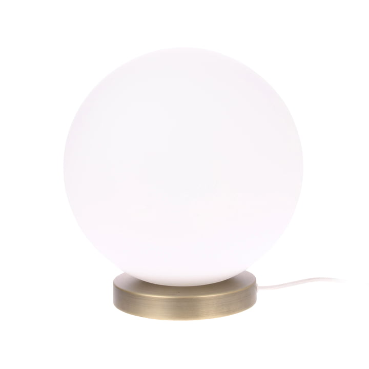 Lampe de table The Ball, L, Ø 30 cm, blanc / laiton par HKliving