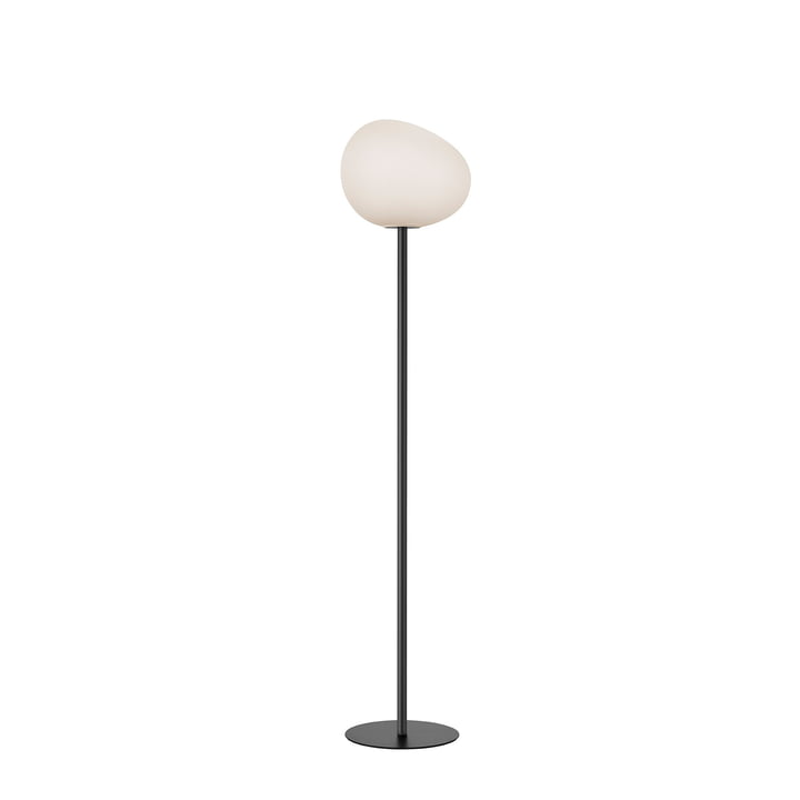 Le lampadaire Gregg, media, blanc / granit par Foscarini