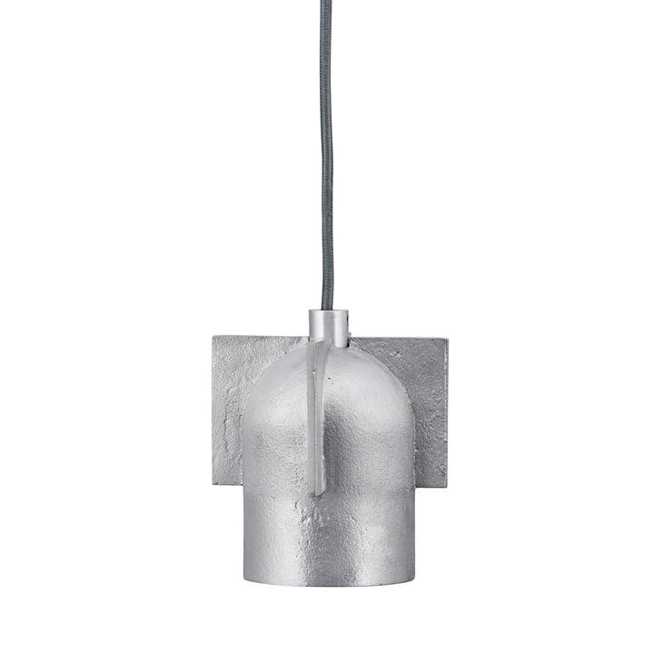 La suspension Akola, H 12,5 cm x Ø 9 cm, argentée par House Doctor