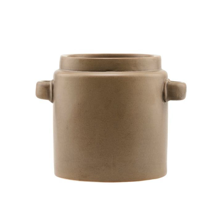 Le pot de fleur Bundi, Ø 19,5 x H 20 cm, marron par House Doctor