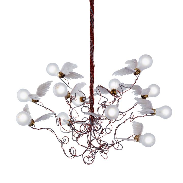 La lampe à suspension Birdie, rouge de Ingo Maurer