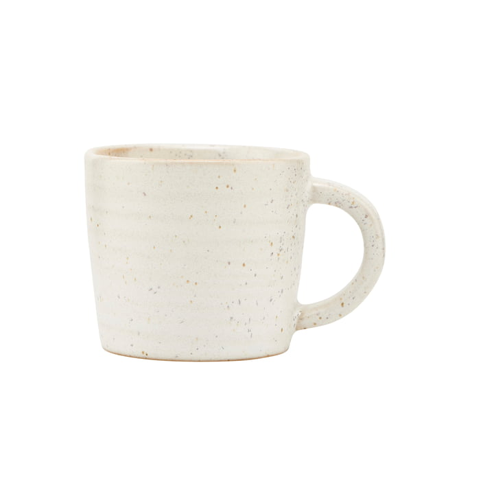 House Doctor - Mug avec anse Pion, gris / blanc