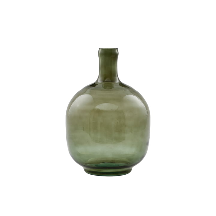 Le vase Tinka, Ø 16,5 x H 23,5 cm, vert foncé par House Doctor