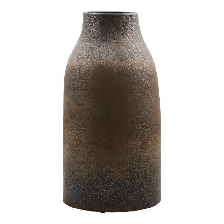 Le vase Wymm, Ø 32 x H 65 cm, noir / marron