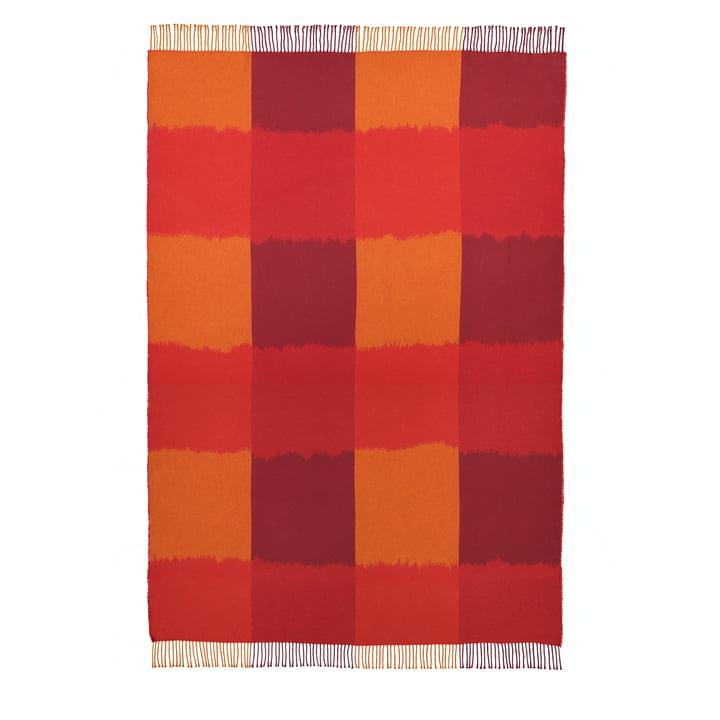 La couverture Ostjakki 120 x 185 cm, rouge / orange / marron par Marimekko