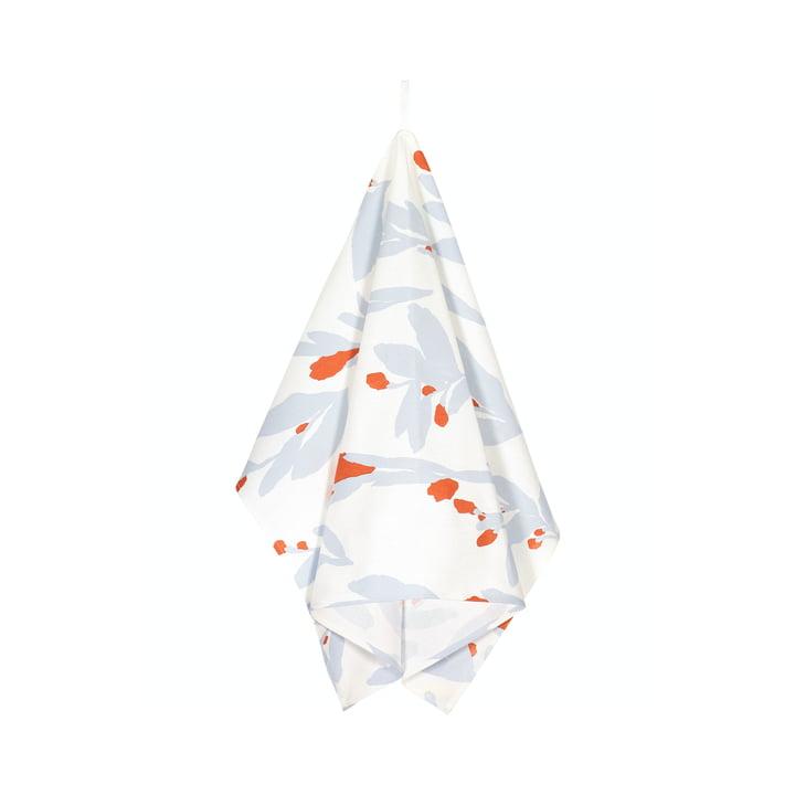 Le torchon Pieni Hyhmä, blanc / orange / gris par Marimekko