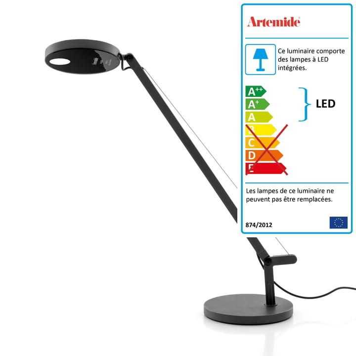 Lampe de table Demetra Micro LED d' Artemide en anthracite