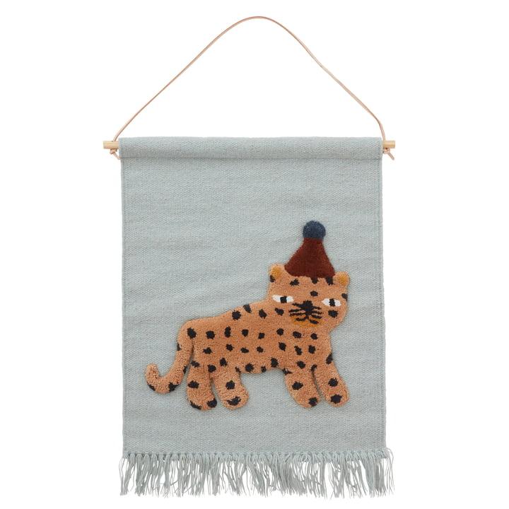 La tapisserie en léopard, bleu poussiéreux de OYOY