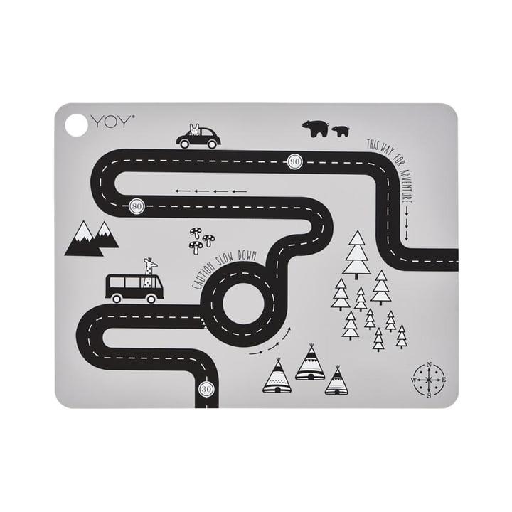 Le jeu de table Adventure, 45 x 34 cm, gris clair par OYOY